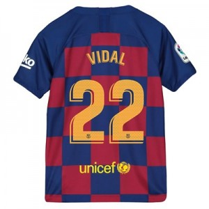 Barcelona Home Vapor Match Shirt 2019-20 - Kids with Vidal 22 printing