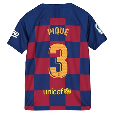 Barcelona Home Stadium Shirt 2019-20 - Kids with Piqué 3 printing