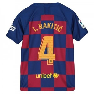 Barcelona Home Stadium Shirt 2019-20 - Kids with I.Rakitic 4 printing