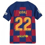 Barcelona Home Stadium Shirt 2019-20 - Kids with Vidal 22 printing