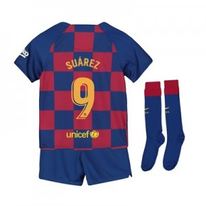 Barcelona Home Stadium Kit 2019-20 - Little Kids with Suárez 9 printing