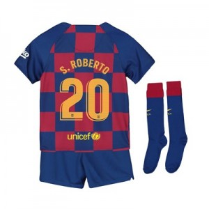Barcelona Home Stadium Kit 2019-20 - Little Kids with S.Roberto 20 printing