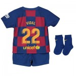 Barcelona Home Stadium Kit 2019-20 - Infants with Vidal 22 printing