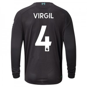 Liverpool Third Shirt 2019-20 - Long Sleeve with Virgil 4 printing