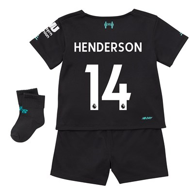 Liverpool Third Baby Kit 2019-20 with Henderson 14 printing