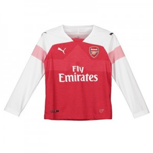 Arsenal Home Shirt 2018-19 - Kids - Long Sleeve