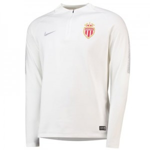 AS Monaco Squad Drill Top - White