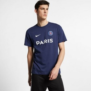 Paris Saint-Germain Core Match T-Shirt - Navy