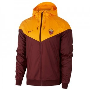 AS Roma Authentic Woven Windrunner - Red