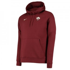 AS Roma Fleece Hoodie - Red