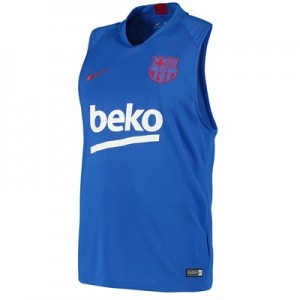 Barcelona Strike Training Top - Blue - Sleeveless