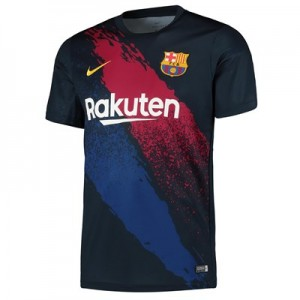 Barcelona Pre Match Training Top - Dk Blue