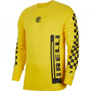 Inter Milan Pirelli Ignite T-Shirt - Yellow - Long Sleeve
