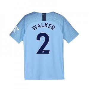 Manchester City Home Stadium Shirt 2018-19 - Kids with Walker 2 printing