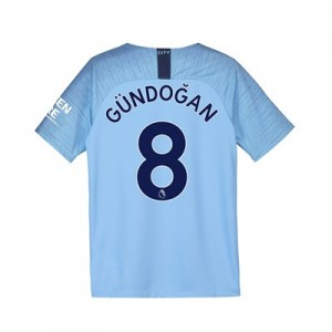 Manchester City Home Stadium Shirt 2018-19 - Kids with Gündogan 8 printing