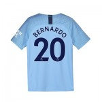 Manchester City Home Stadium Shirt 2018-19 - Kids with Bernardo 20 printing
