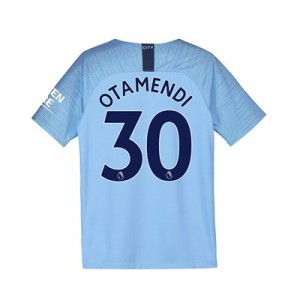 Manchester City Home Stadium Shirt 2018-19 - Kids with Otamendi 30 printing