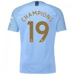 Manchester City Home Vapor Match Shirt 2018-19 with Champions 19 printing