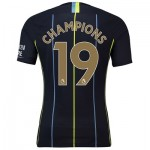 Manchester City Away Vapor Match Shirt 2018-19 with Champions 19 printing