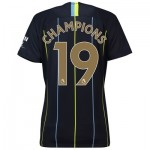 Manchester City Away Stadium Shirt 2018-19 - Womens with Champions 19 printing