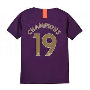 Manchester City Third Stadium Shirt 2018-19 - Kids with Champions 19 printing