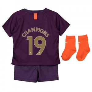 Manchester City Third Stadium Kit 2018-19 - Infants with Champions 19 printing