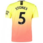 Manchester City Authentic Third Shirt 2019-20 with Stones 5 printing