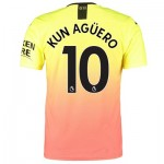 Manchester City Authentic Third Shirt 2019-20 with Kun Agüero  10 printing