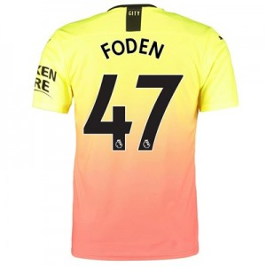 Manchester City Authentic Third Shirt 2019-20 with Foden 47 printing