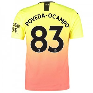 Manchester City Authentic Third Shirt 2019-20 with Poveda-Ocampo 83 printing
