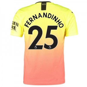 Manchester City Authentic Third Shirt 2019-20 with Fernandinho 25 printing