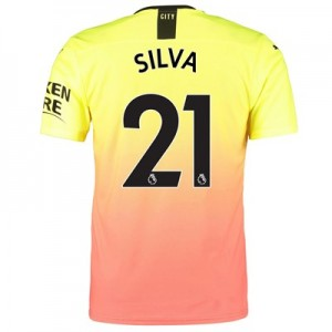 Manchester City Authentic Third Shirt 2019-20 with Silva 21 printing