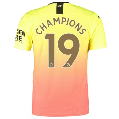 Manchester City Authentic Third Shirt 2019-20 with Champions 19 printing