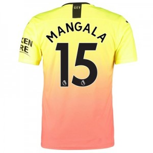 Manchester City Authentic Third Shirt 2019-20 with Mangala 15 printing