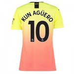 Manchester City Authentic Third Shirt 2019-20 - Womens with Kun Agüero  10 printing
