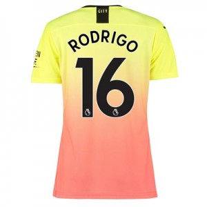 Manchester City Authentic Third Shirt 2019-20 - Womens with Rodrigo 16 printing
