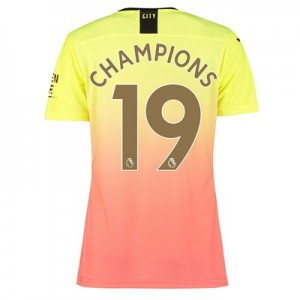 Manchester City Authentic Third Shirt 2019-20 - Womens with Champions 19 printing