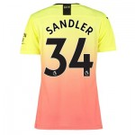 Manchester City Authentic Third Shirt 2019-20 - Womens with Sandler 34 printing