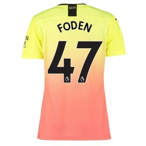 Manchester City Authentic Third Shirt 2019-20 - Womens with Foden 47 printing