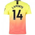 Manchester City Third Shirt 2019-20 with Laporte 14 printing