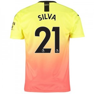 Manchester City Third Shirt 2019-20 with Silva 21 printing