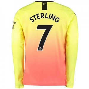 Manchester City Third Shirt 2019-20 - Long Sleeve with Sterling 7 printing
