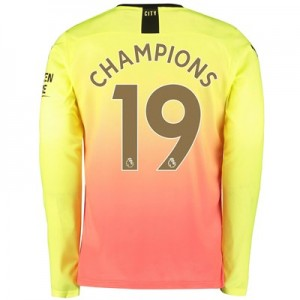 Manchester City Third Shirt 2019-20 - Long Sleeve with Champions 19 printing
