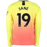 Manchester City Third Shirt 2019-20 - Long Sleeve with Sané 19 printing