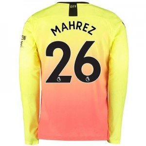 Manchester City Third Shirt 2019-20 - Long Sleeve with Mahrez 26 printing