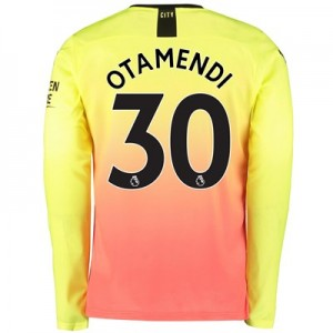 Manchester City Third Shirt 2019-20 - Long Sleeve with Otamendi 30 printing