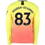 Manchester City Third Shirt 2019-20 - Long Sleeve with Poveda-Ocampo 83 printing
