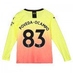 Manchester City Third Shirt 2019-20 - Long Sleeve - Kids with Poveda-Ocampo 83 printing