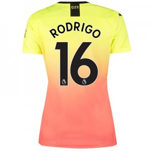 Manchester City Third Shirt 2019-20 - Womens with Rodrigo 16 printing