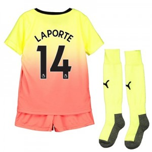 Manchester City Third Mini Kit 2019-20 with Laporte 14 printing